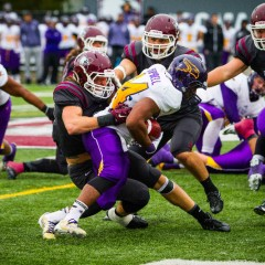 Golden Hawks soar past Marauders Laurier's 329 rushing yards prove too much for McMaster's defense as the Marauders football season comes to an end
